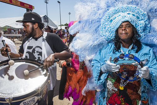Honey with Golden Sioux at Jazz Fest day 2 on April 26, 2019. Photo by Ryan Hodgson-Rigsbee RHRphoto.com