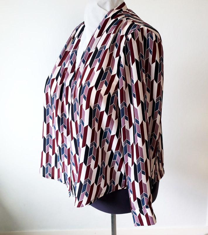 Silk blouse side view
