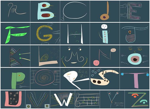 Musical ABC Collage