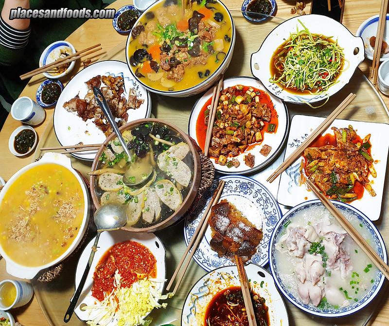 china Du Jiang Yan  Dinner  都江堰