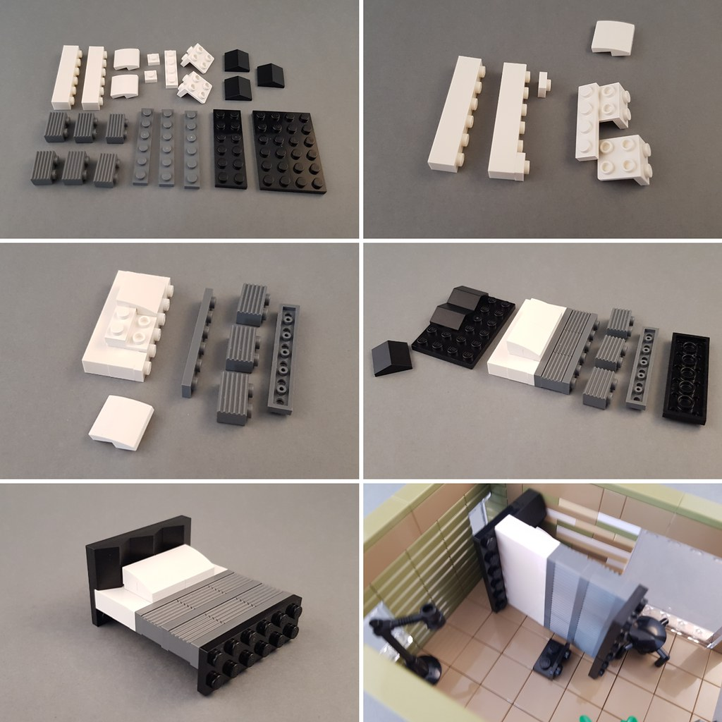 Bed Tutorial (Checkered Tan House MOC)
