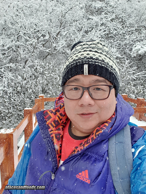 china mount emei snowing