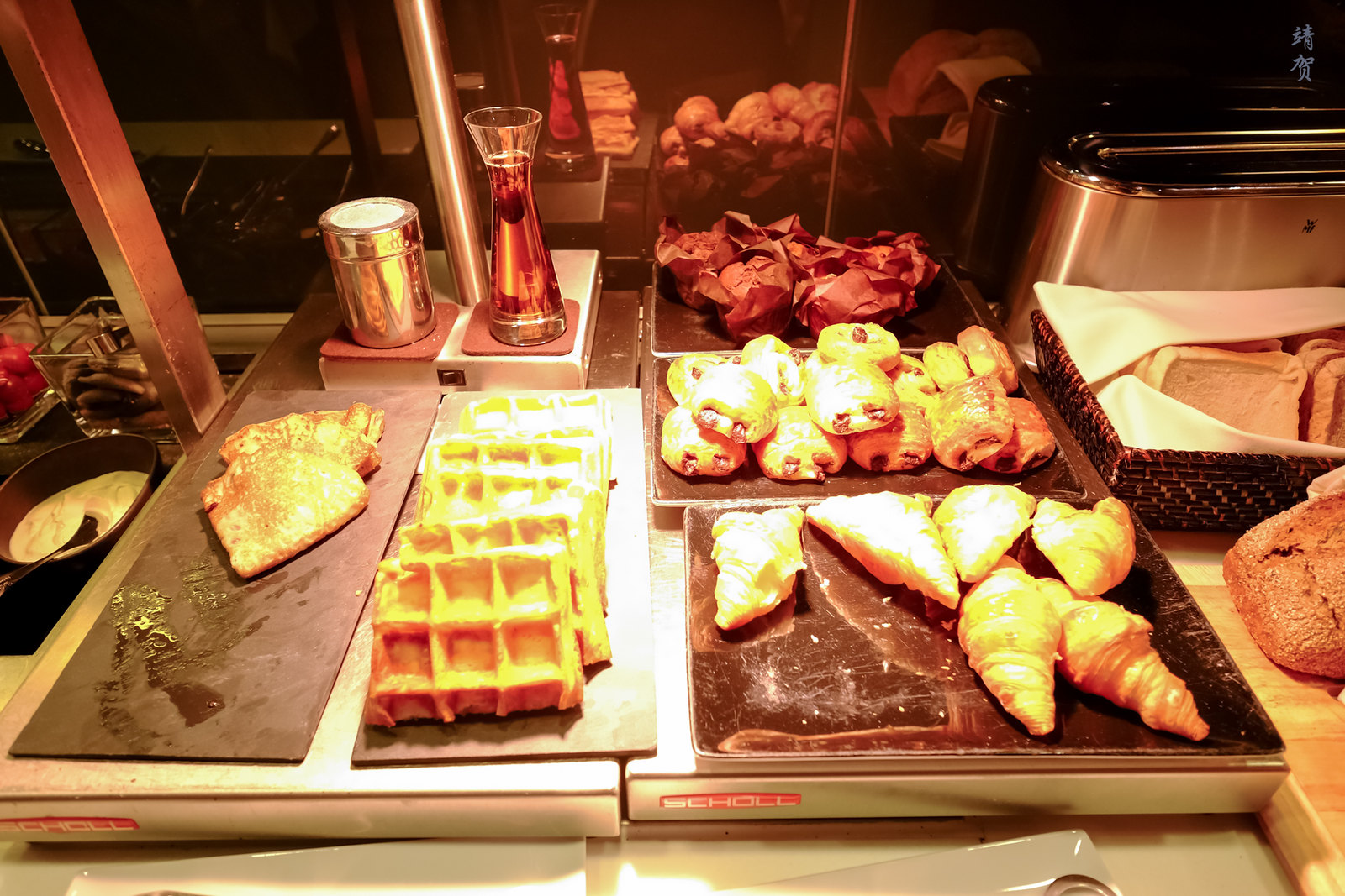 Crepes, waffles and pastries