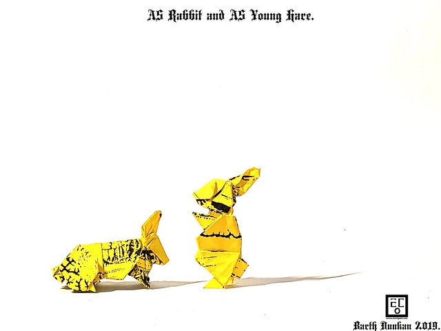 A5 Rabbit and A5 Young Hare - Barth Dunkan.