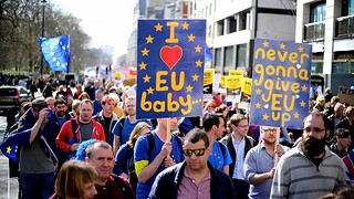 A pro-EU march