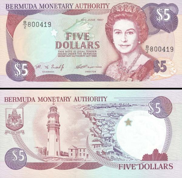 5 Dolárov Bermudy 1995-97 P41