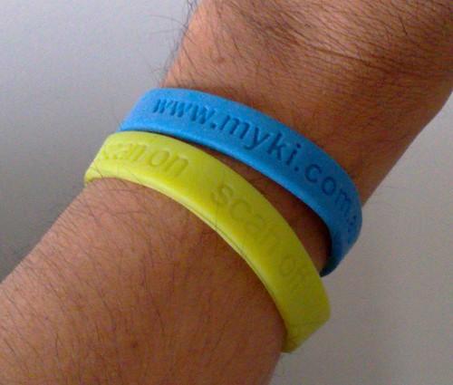 Myki wrist bands, April 2009