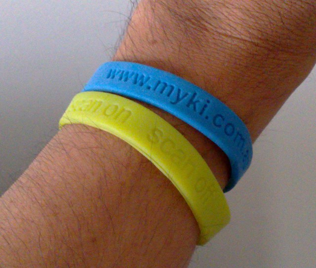 Myki wrist bands, April 2009
