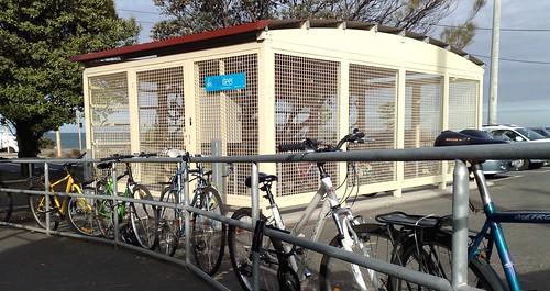 Parkiteer bike cage, Brighton Beach, April 2009