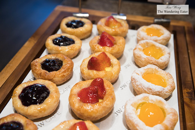 Various fruit danishes at JW Cafe