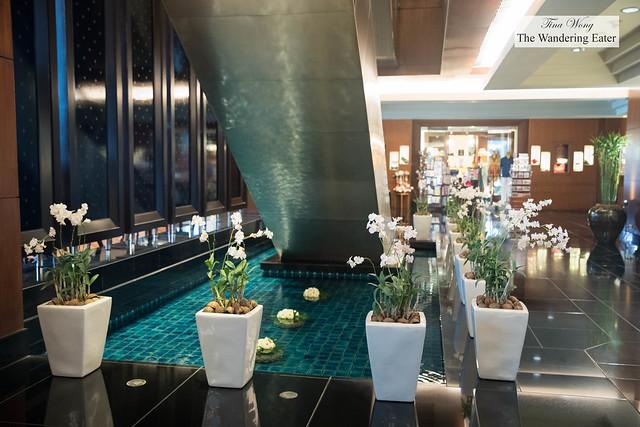 Serene lobby area
