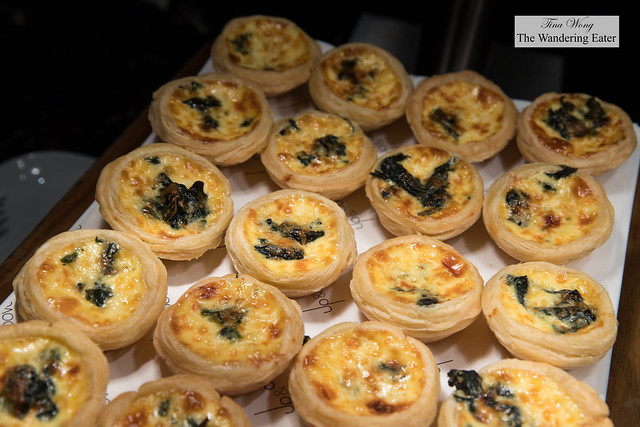 Mini spinach quiches for breakfast at Up & Above