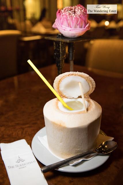 Coconut water in coconut