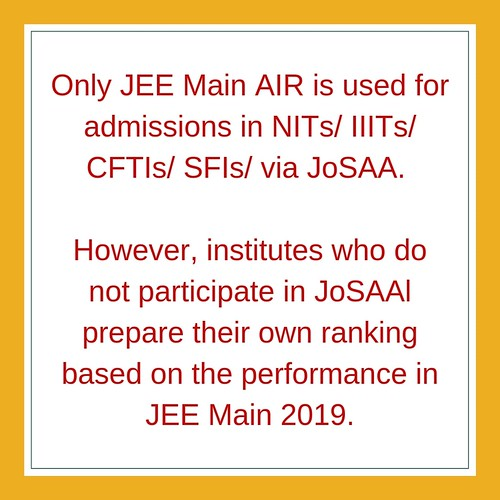 JEE Main 2019 AIR