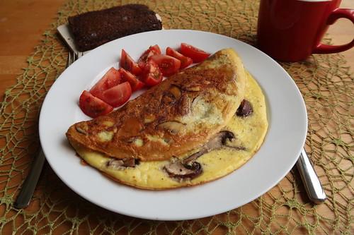 Champignonomelett zum Frühstück