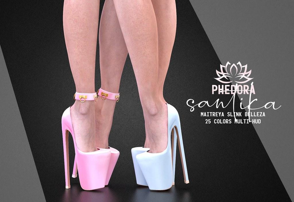"Phedora. for Kinky Event – ""Santika"" cuffed heels ♥"