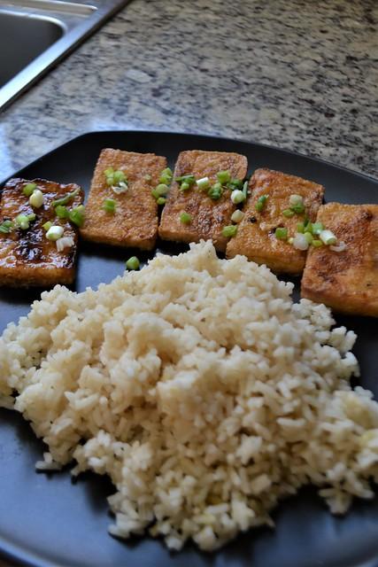 Teriyaki Tofu and Rice (Vegan)