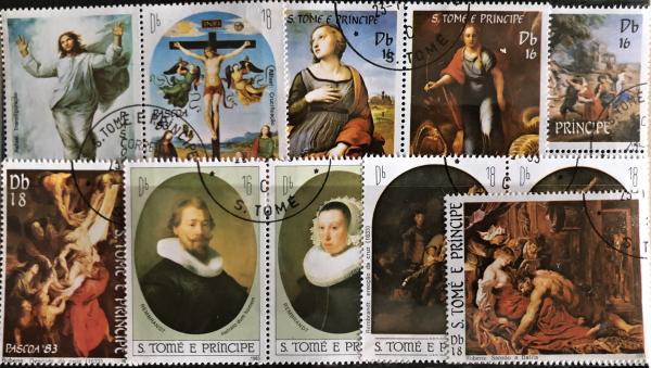 Známky Svätý Tomáš 1983 Veľká noc, razítkovaná séria