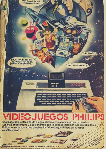Philips Videopac advertisement on Pulgarcito magazine #90 (1983) | by Deep Fried Brains