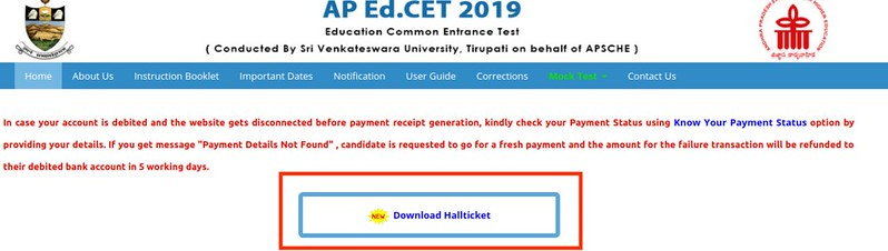 AP EdCET 2019 Admit Card Released; Download at sche.ap.gov.in