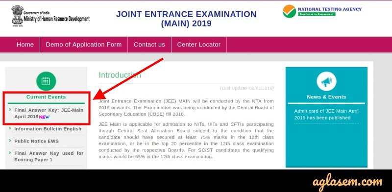 JEE Main 2019 Final Answer Key Released; Result Out Anytime on jeemain.nic.in
