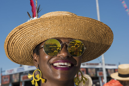 Janese Brooks-Galathe at Jazz Fest day 4 on April 28, 2019. Photo by Ryan Hodgson-Rigsbee
