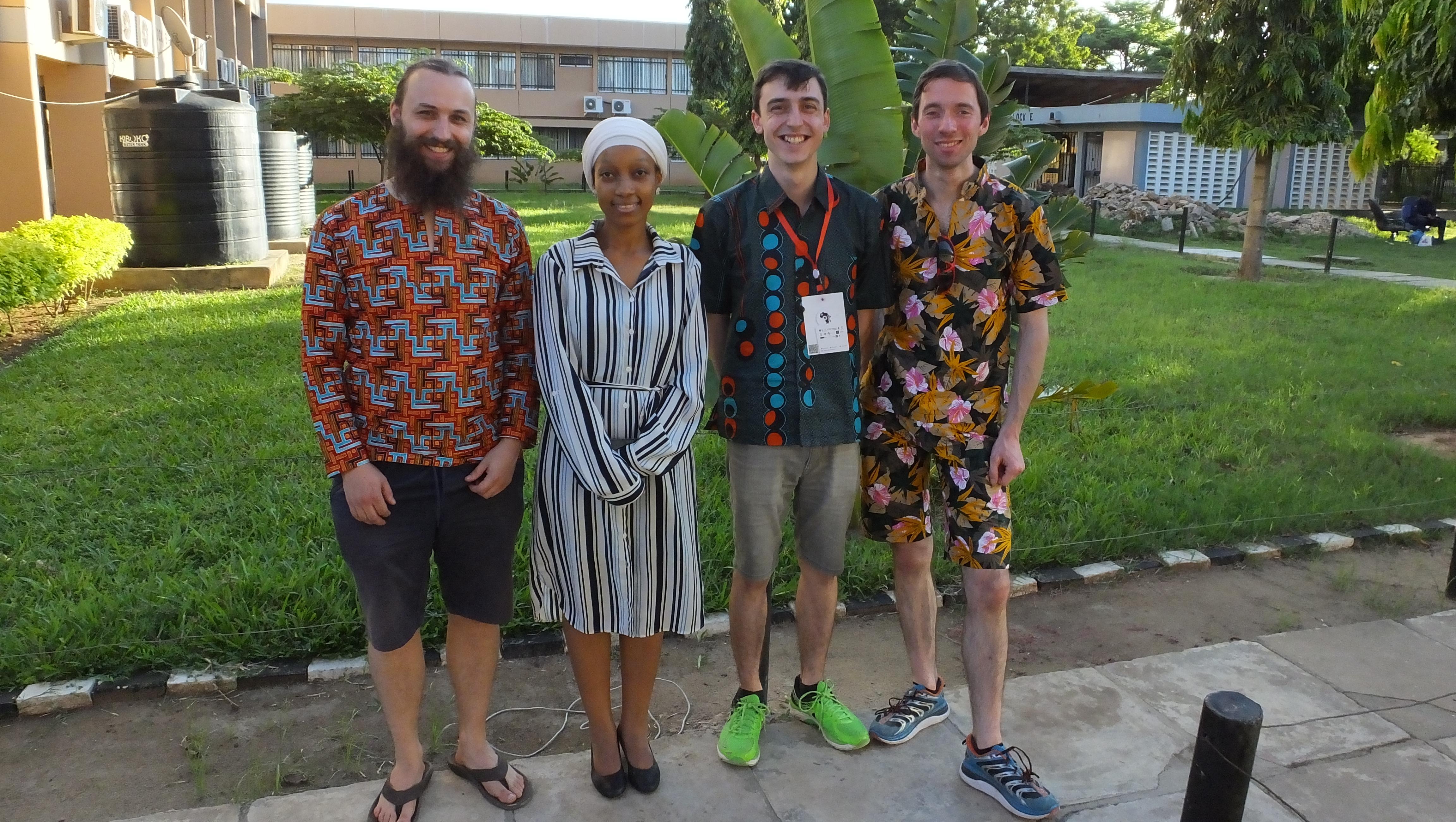 Dr Julian Stirling, Joel Collins and Dr Richard Bowman with Dr Christine Mwase, in Dar es Salaam