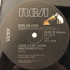 EVELYN KING:LOVE COME DOWN(LABEL SIDE-B)