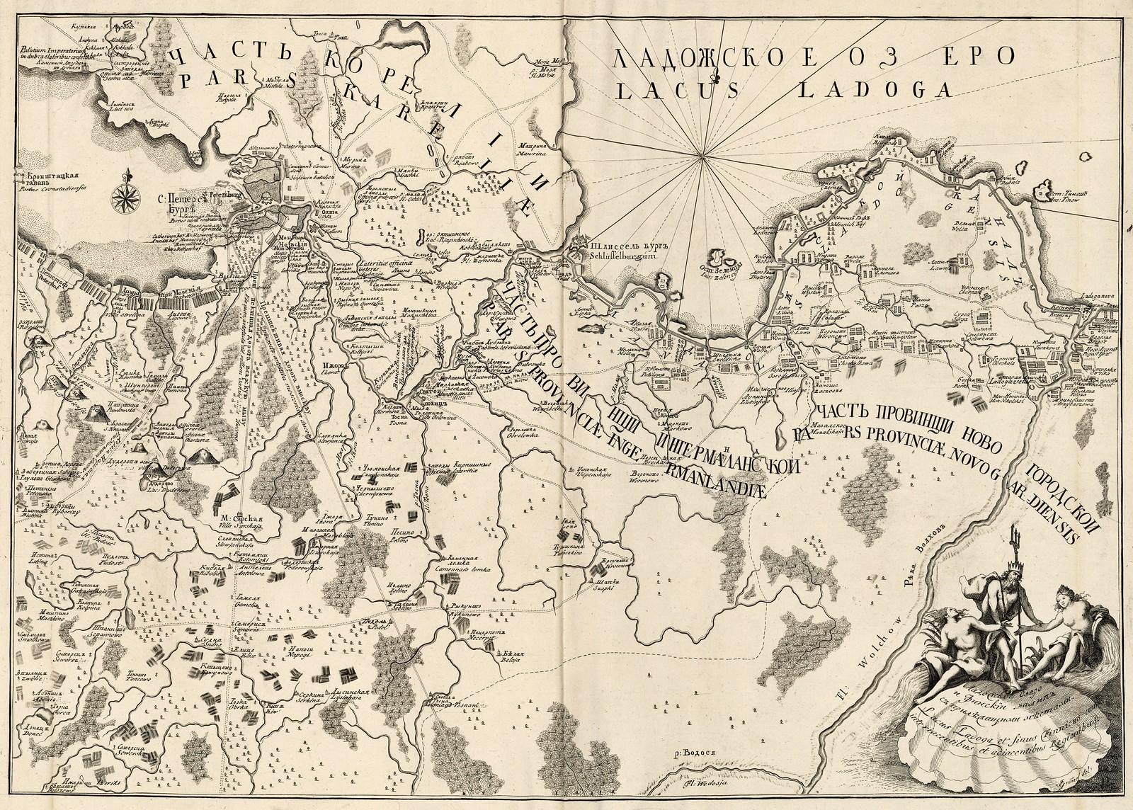 1740-1750. Ладожское озеро, Финский залив и промежуточные и прилегающие к нему районы. J. Grimele