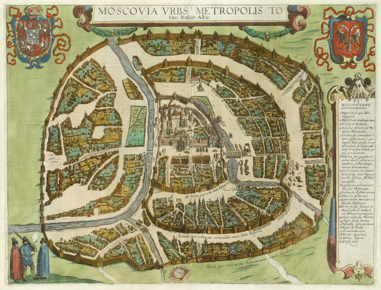 1612-1618. Москва мегаполис Белой Руси, Франц Браун, Георг Хогенберг, Köln