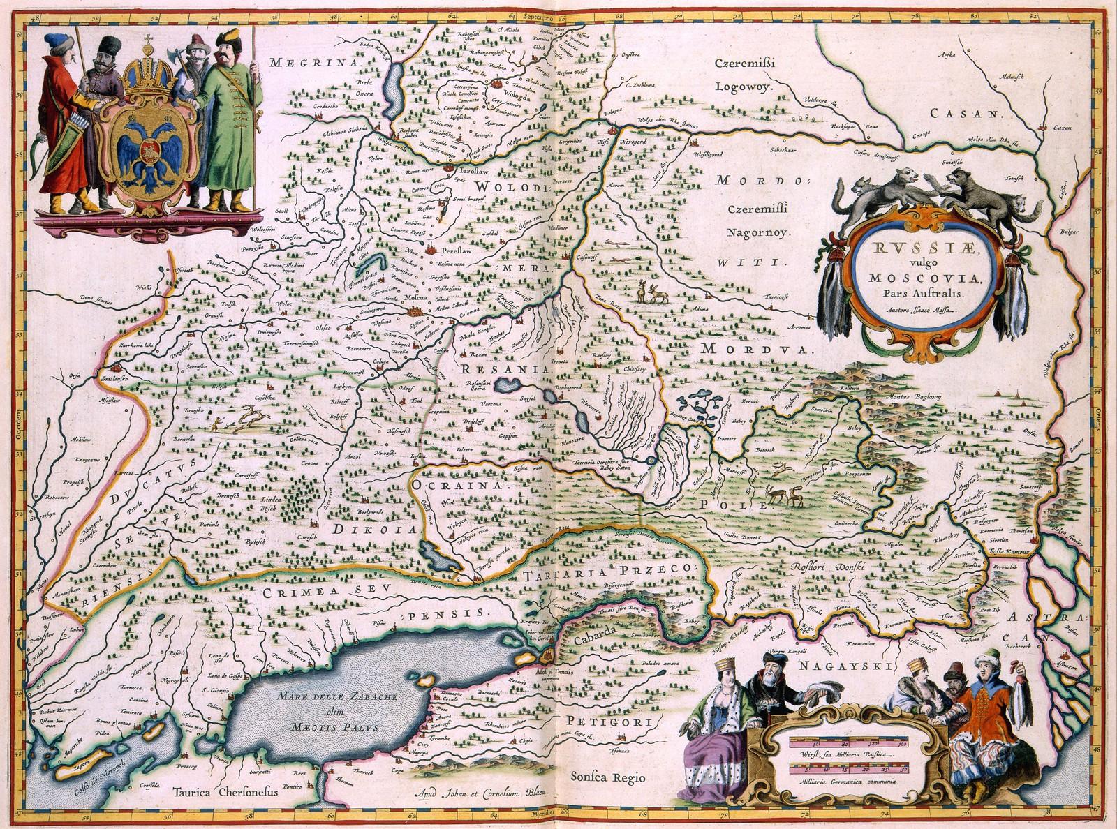1638.  Россия, обычно Московия, часть юга, север и восток, запад. Амстердам