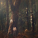 Forest Scene with Two Figures by M MUNKACSY 1873 (deatail) 169c