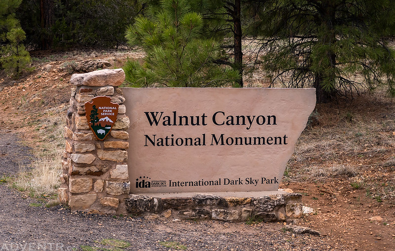 Walnut Canyon National Monument Sign