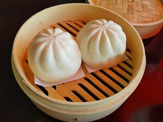 Steamed BBQ Buns at PingAn Veggie Time