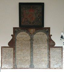 royal arms and decalogue boards