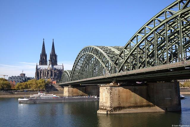 Kölner Dom und Hohenzollernbrücke am 15.10.18