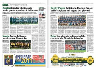 Gazzetta di Parma 01.05.19 - Speciale rugby