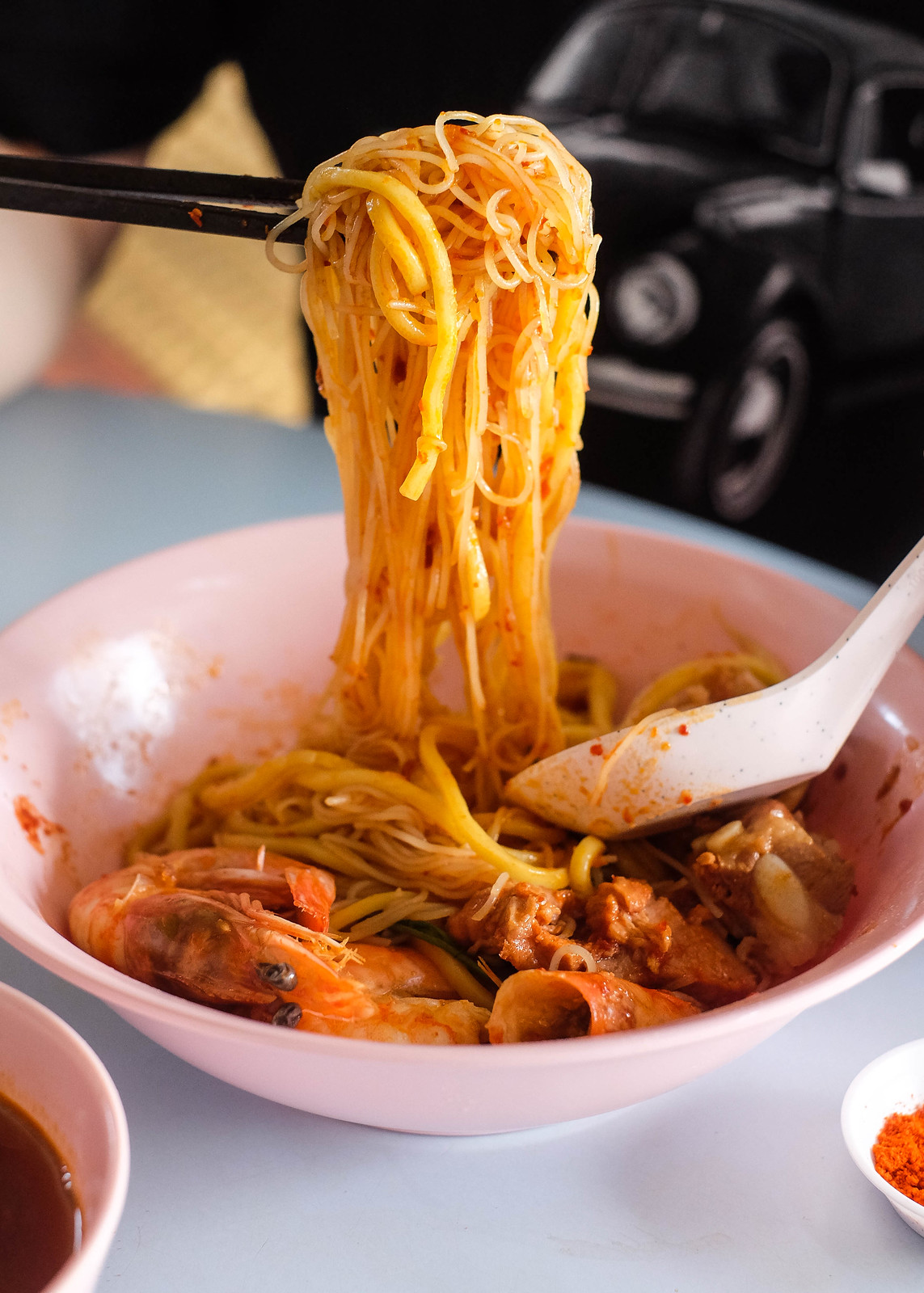 Close Up of Noodle with Chilli