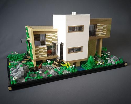 Checkered Tan House MOC II