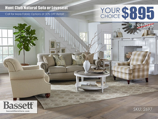 Hunt Club Natural Sofa or Loveseat Special_2697-62A-HuntClub-FA18_YourChoice