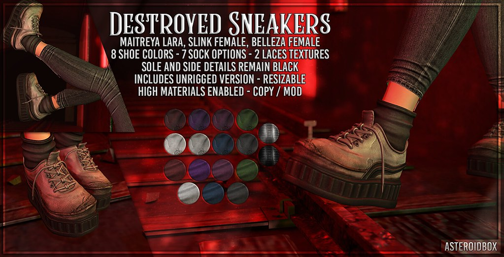 AsteroidBox. Destroyed Sneakers – 50/50 Event