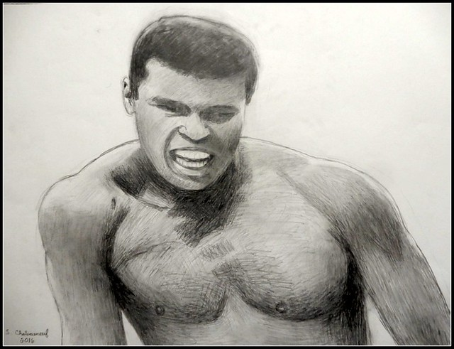 pool drawing realistic pencil ali muhammad