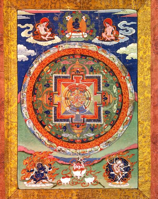 Mandala of the Buddhist deity Chakrasamvara, approx. 1700–1800. from khanacademy.com