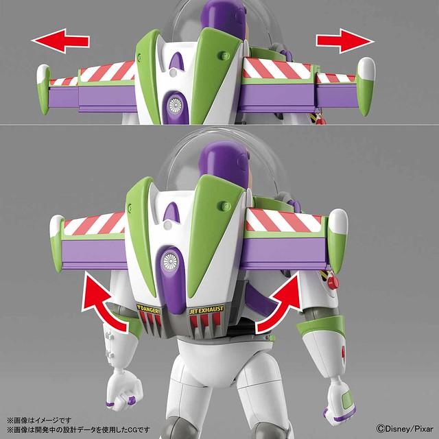 【更新官方開箱組裝照】再現翅膀展開機構!萬代《玩具總動員4》巴斯光年 組裝模型(トイ・ストーリー4 バズ・ライトイヤー プラモデル)