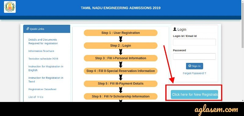 TNEA 2019 Registration started at tneaonline.in; TANCET Registration from 6 May