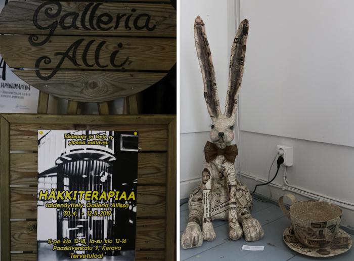 taidenäyttely häkkiterapiaa galleria alli kerava kirjataide taidetta vanhoista kirjoista