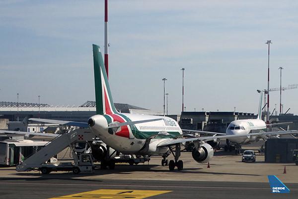 Alitalia A319 rampa FCO (RD)