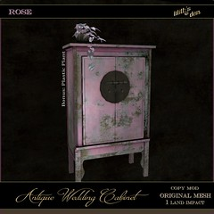 LD Antique Wedding Cabinet - Rose