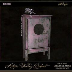 LD Antique Wedding Cabinet - Rose