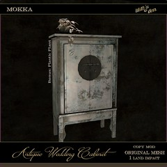 LD Antique Wedding Cabinet - Mokka